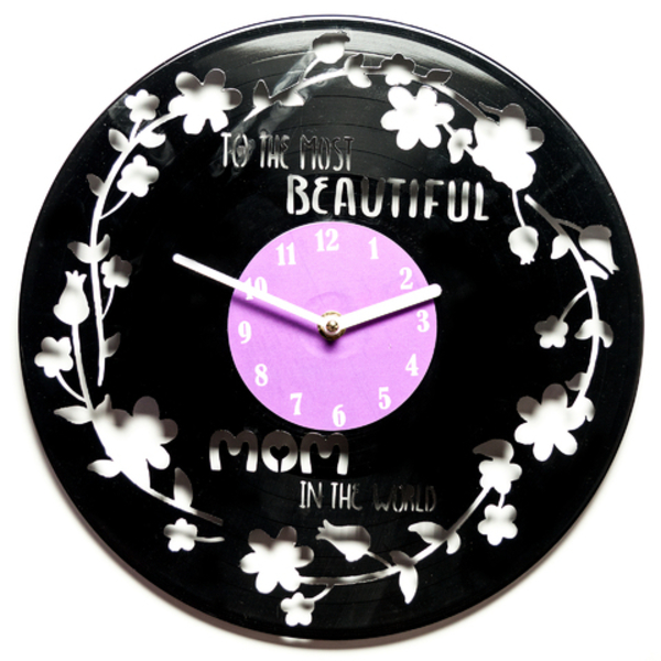 Vinyl Clock - The Most Beautiful Mom