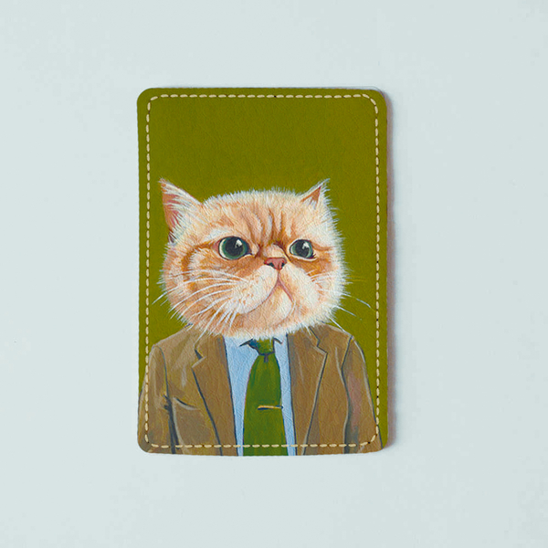 """ID card cover """"Office cat"""""""