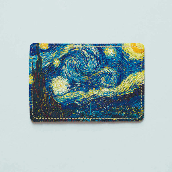"""ID card cover """"The starry night"""""""