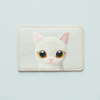 "ID card cover ""White kittie"""