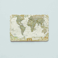 "ID card cover ""Map of the world"""