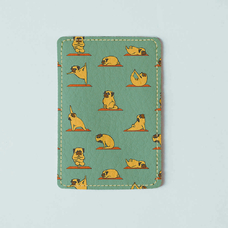"ID card cover ""Yoga pugs"""