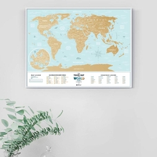 World scratch map Travel Map, Holiday Lagoon