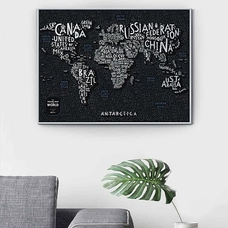 "World Scratch Map ""Travel Map"", Letters"