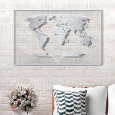 World scratch map Travel Map, Air