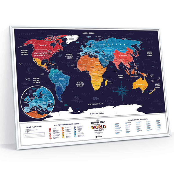 Scratch-Off World Map - Travel Map, Holiday