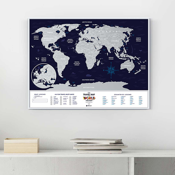 World scratch map Travel Map, Holiday