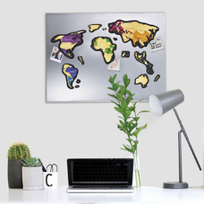 World scratch map Travel Map, Magnetic World