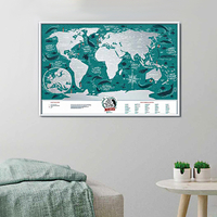 "Plastic World Scratch Map ""Travel Map"", Marine"