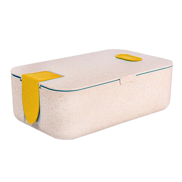 Lunch box Wheat Straw  (bioplastic), yellow