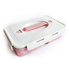 Lunch box Simple (bioplastic), pink