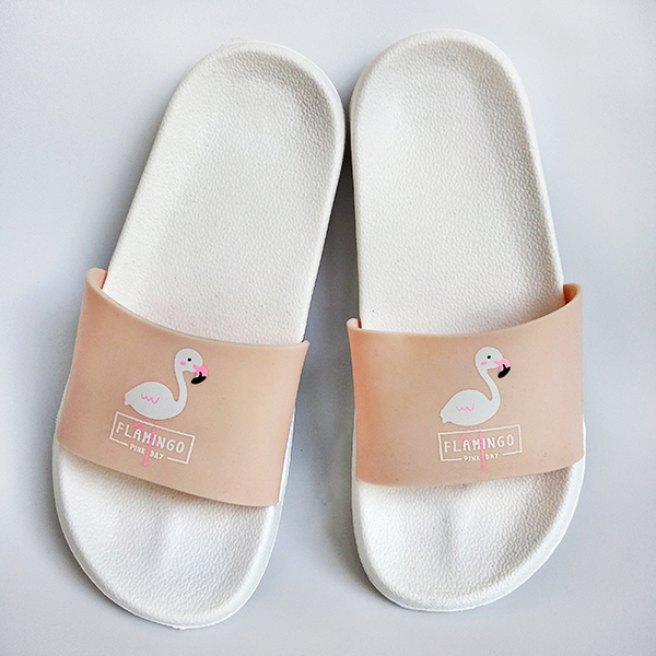 "Flip Flops ""Peach Flamingo"", white"