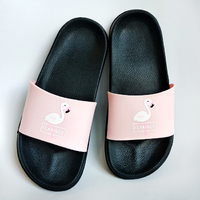 "Flip Flops ""Pink Flamingo"", black"