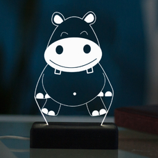 "LED 3D lamp ""Hippo"""