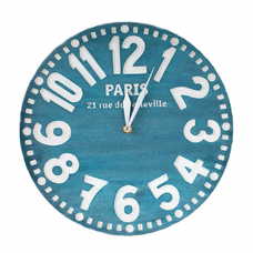 "Wooden clock ""Paris"", blue"