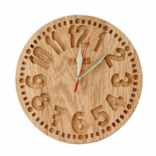 "Wooden clock ""Paris"", vintage"