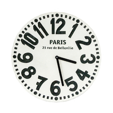"Wooden clock ""Paris"", white"
