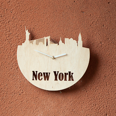 "Wooden clock ""New York"""