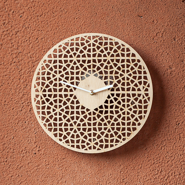 """Wooden clock """"Lace"""""""