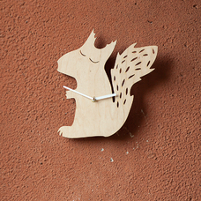 "Wooden clock ""Squirrel"""
