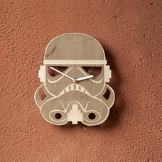 "Wooden clock ""Stormtrooper"""