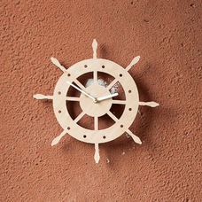 "Wooden clock ""Wheel"""