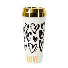"Thermal mug ""Hearts"""