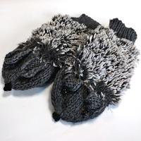 "Mittens ""Hedgehogs"", gray"