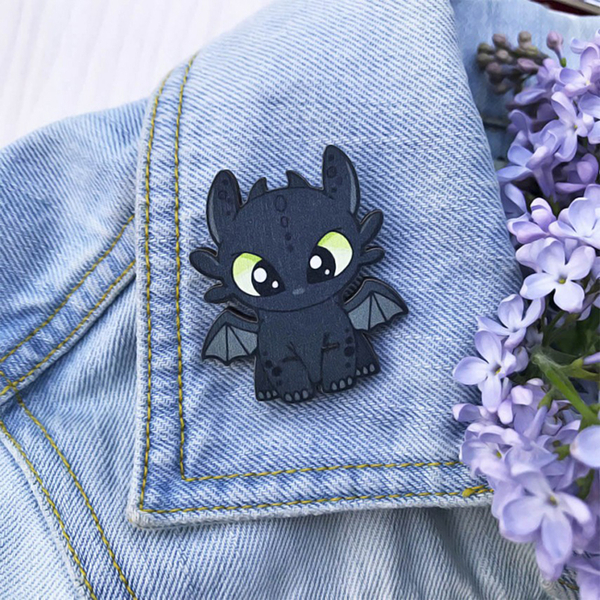 """Badge """"Toothless"""""""