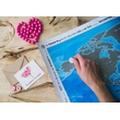 """World Scratch Map """"Discovery Map"""", silver"""