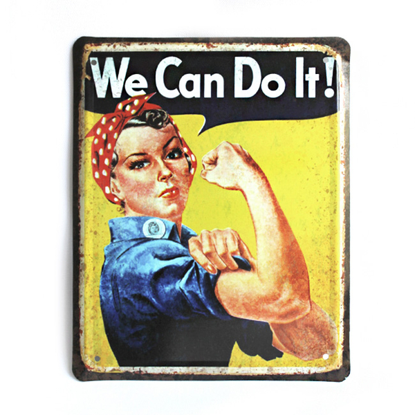 """Wall metal sign """"We Can Do It!"""""""