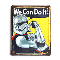 """Wall metal sign """"We Can Do It! (stormtrooper)"""""""