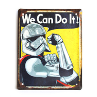 "Wall metal sign ""We Can Do It! (stormtrooper)"""