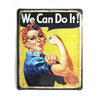 "Wall metal sign ""We Can Do It!"""
