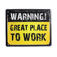 "Wall metal sign ""Great place to work"""