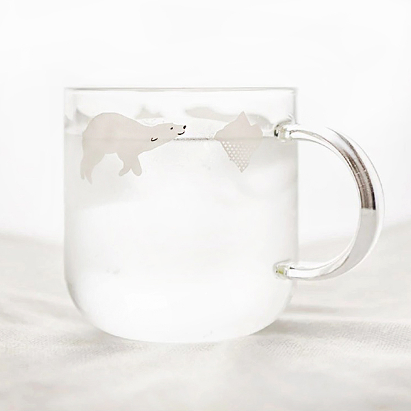"Mug ""Polar Bear"", transparent"
