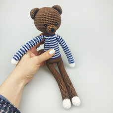 "Yarn toy ""Bear in pyjamas"""