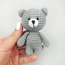 "Yarn toy ""Gray bear"""