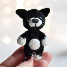 "Yarn toy ""Black Kitten"""