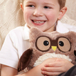 "Heatable stuffed toy ""Owlet"", brown"