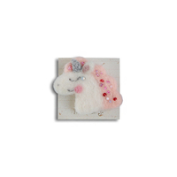 "Brooch made of felt ""Unicorn pink"""