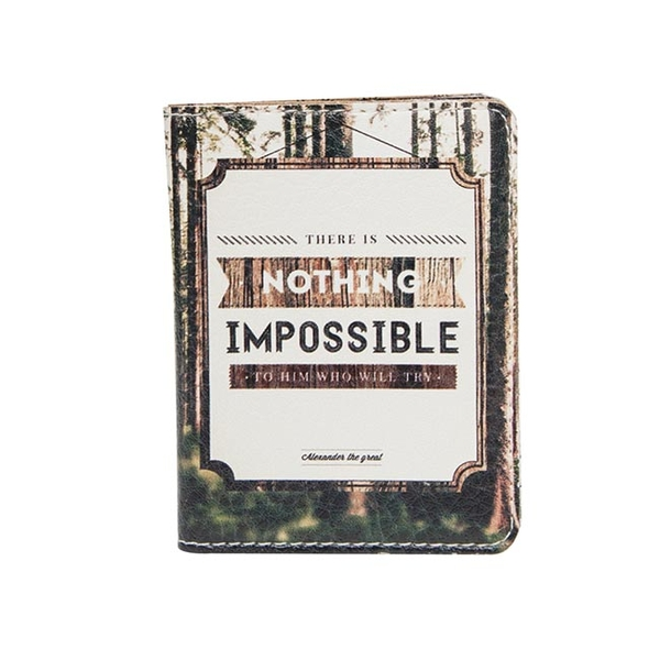 """ID card cover """"Nothing impossible"""""""
