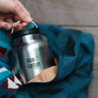 Thermo Bottle  Klean Kanteen TKWide Loop Cap Brushed Stainless