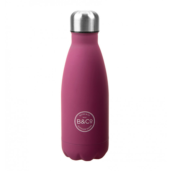 Thermo Bottle Summit B&Co  Rubberized Berry