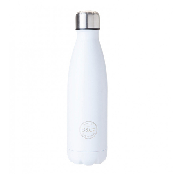 Thermo Bottle   Summit B&Co Mono White