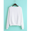 "Sweatshirt with fleece ""Housewife?"", white"
