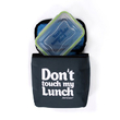 """Thermo lunch bag """"Don't touch"""" Gray"""