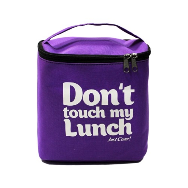 """Thermo lunch bag """"Don't touch""""  violet"""