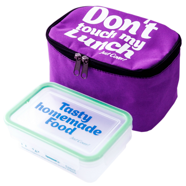 """Thermo lunch bag """"Don't touch"""" mini, lilac"""