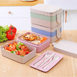 Lunch box with appliances (bioplastic), green